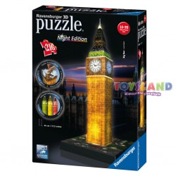 PUZZLE 3D MAXI 216 PEZZI BIG BEN NIGHT EDITION (12588)