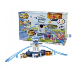 SUPER WINGS PLAYSET DELUXE TORRE DI CONTROLLO C/2 PERSONAGGI