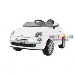 AUTO ELETTRICA 12V FIAT 500 BIANCA RADIOCOMANDO (1317001 3118005)
