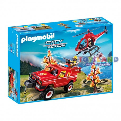 PLAYMOBIL SUPER SET POMPIERI FORESTALI (9518)