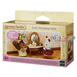 ORIGINAL SYLVANIAN FAMILIES - TAVOLINO BEAUTY CON SGABELLO