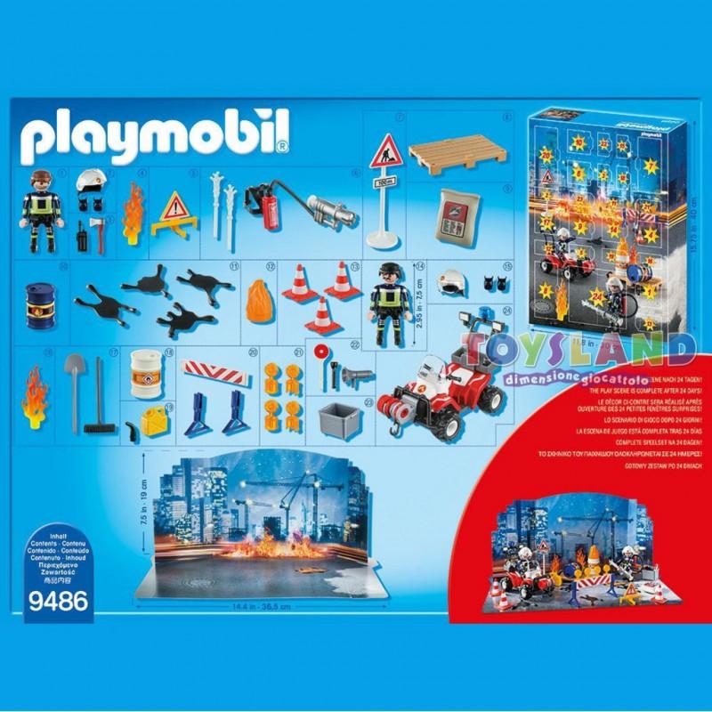 Calendario Avvento Playmobil.Playmobil Calendario Avvento Vigili Del Fuoco Ogni Giorno