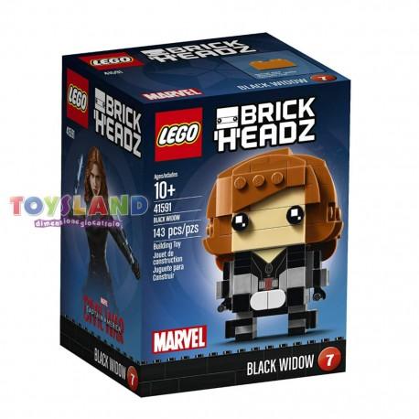 LEGO BRICKHEADZ CIVIL WAR VEDOVA NERA BLACK WIDOW (41591)
