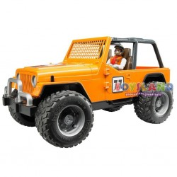JEEP CROSS COUNTRY RACE ARANCIONE, CON PILOTA