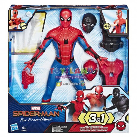 SPIDERMAN DELUXE FEATURE FIGURE 3SUITS (E3567)