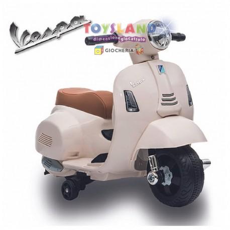 MOTO ELETTRICA VESPA 6V BIANCA (1002B)